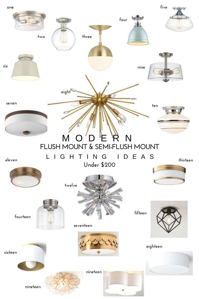 20 Modern Flush Mount Semi Lighting Ideas