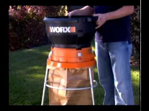 Worx Wg430 13 Amp Electric Leaf Mulcher Shredder Electricity