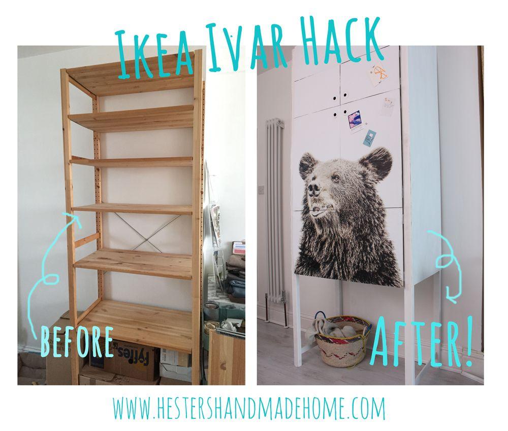 nov 5 hester 39 s house updates ikea ivar hack plywood wallpaper and doors. Black Bedroom Furniture Sets. Home Design Ideas