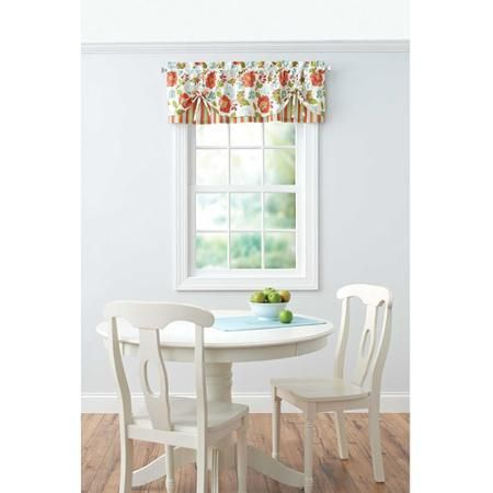 Better Homes And Gardens Jacobean Stripe Kitchen Tiers Or Valance    Walmart.com