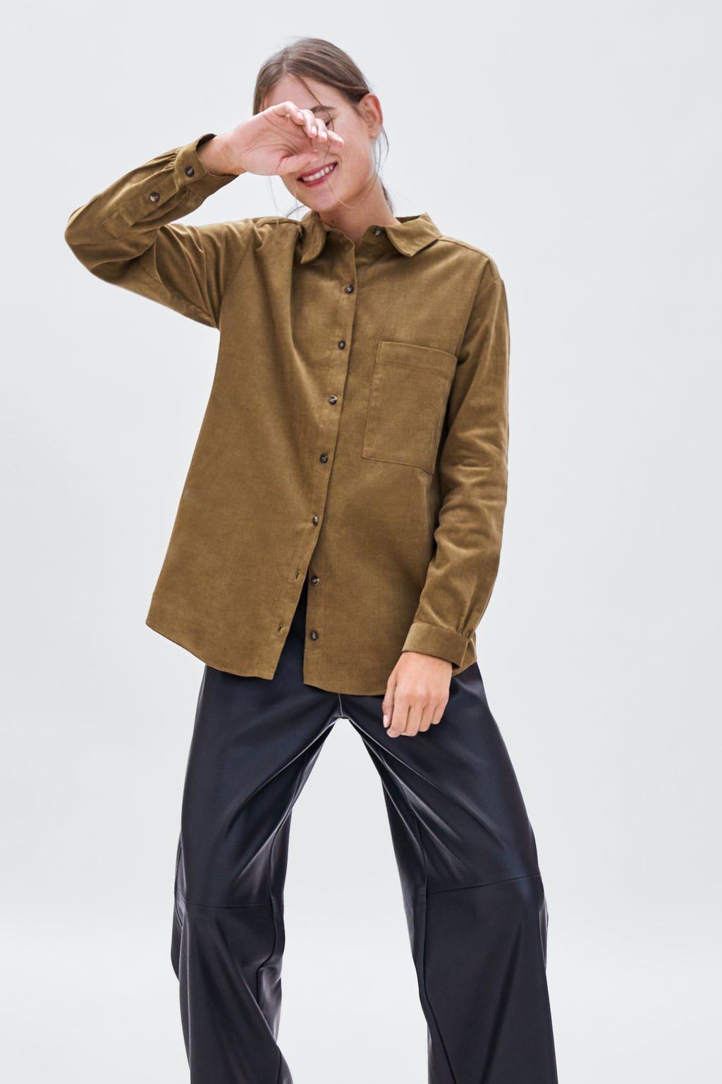 05e262ae Image 1 of FINE CORDUROY SHIRT from Zara | fashion. | Shirts ...
