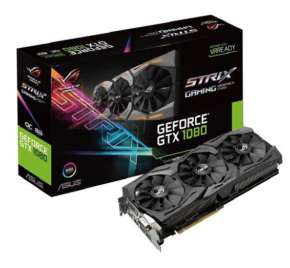 Asus Republic Of Gamers Announces Strix Geforce Gtx 1080 Asus Rog Video Card Computer Accessories