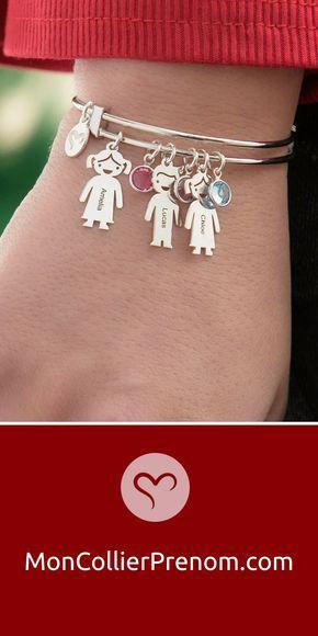 très convoité gamme de 100% authentique 100% de qualité Bracelet Jonc avec Charms Enfant   Moldes de joyeria ...