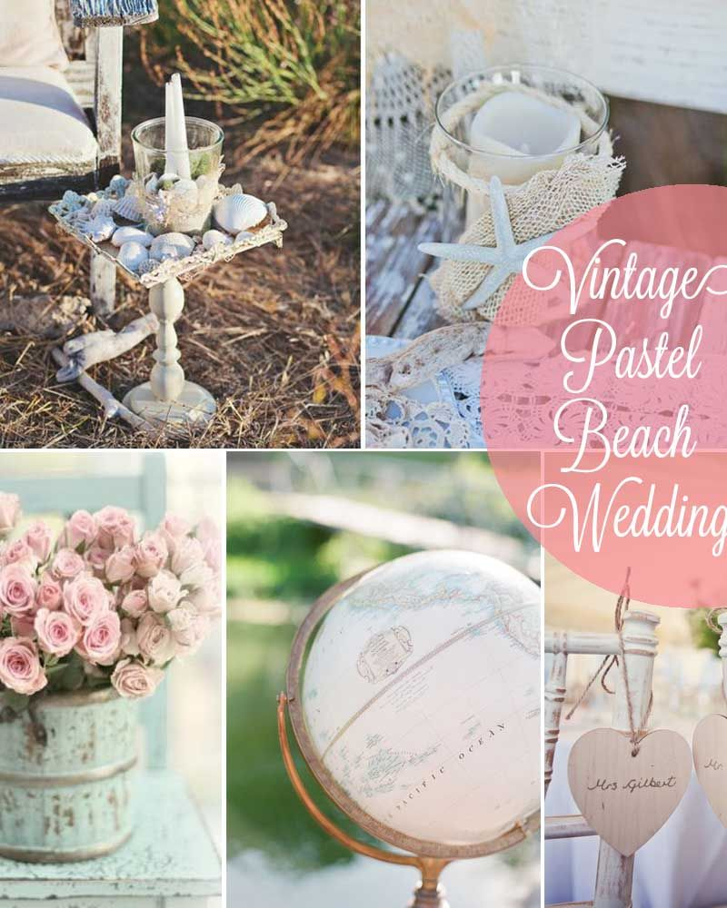 Vintage Beach Wedding Pictures
