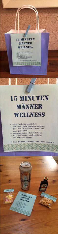 15 Minuten Männer Wellness!!! Geschenkidee für den Mann: