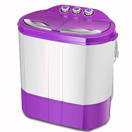 ZeoOne 10 LBS Mini Portable Compact Twin Tub Washing Machine ...
