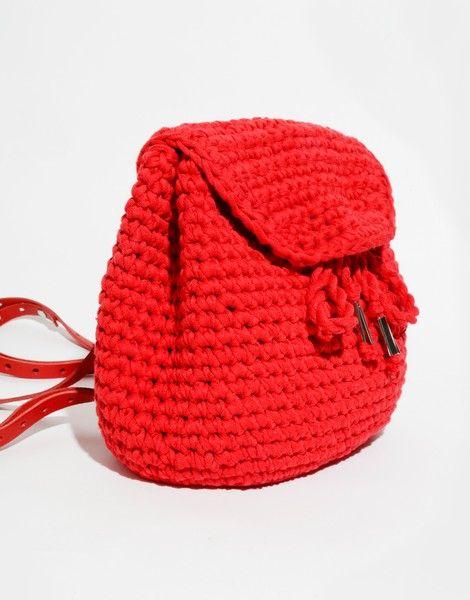 Jackson Backpack Mini Tasche Häkeln Häkeln Schlüsselanhänger Und