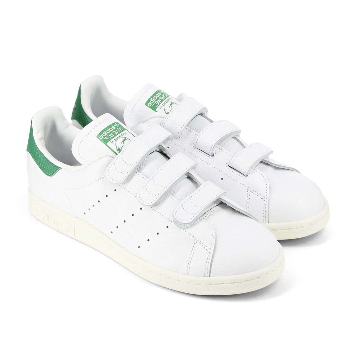 Adidas Stan Smith Vecro White/Green #Adidas #StanSmith #Stan #Velcro #