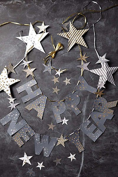 anthropologie happy new year garland
