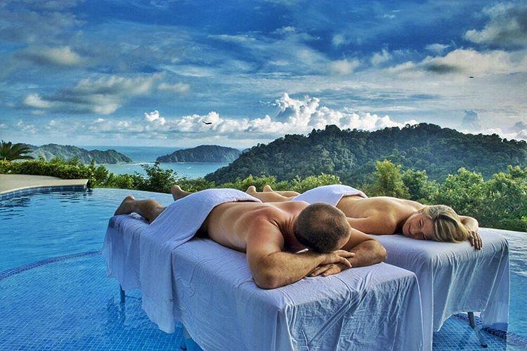 honeymoon couple's massage