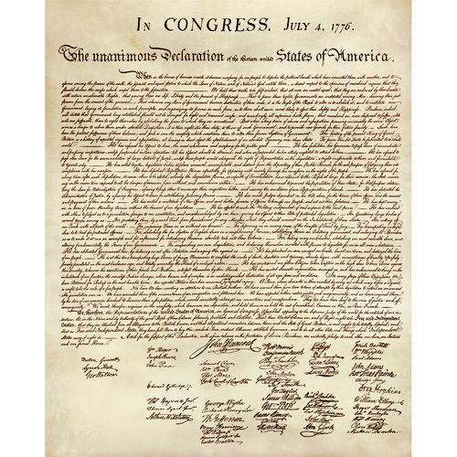 Parchment Declaration Of Independence Unframed Declaration Of Independence Independence Sign Poster