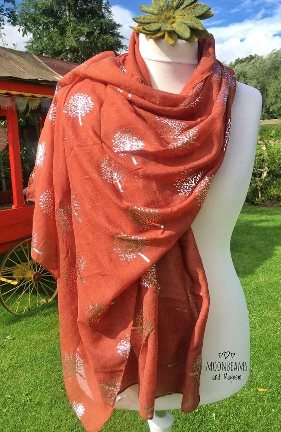 Beautifully soft earthy sandalwood botanical scarf is part of Earthy Clothes Boho - Beautifully soft earthy sandalwood botanical scarf BUY UNIQUE COLOURFUL, ECLECTIC CLOTHING ONLINE FROM MOONBEAMS AND MAYHEM BOHO STYLE HIPPIE