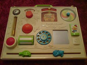 Vintage 70s 1970s Fisher Price Activity Centre Toy Cribs