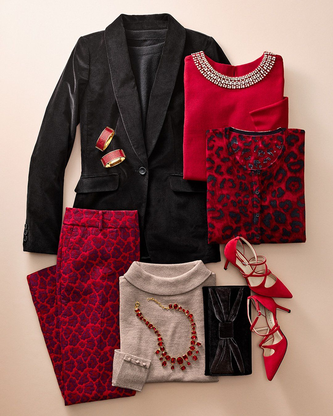 Pops Of Red Get In The Holiday Spirit Talbots Winter Outfits Autumn Winter Fashion Autumn Fashion Winter Outfits [ 1350 x 1080 Pixel ]