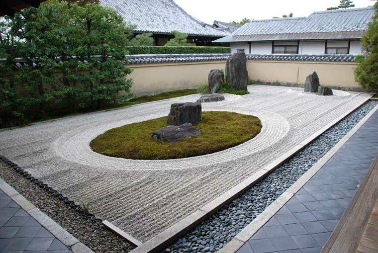 jardín zen con guijarros decorativos JARDINES CON VIDA Pinterest - jardines zen