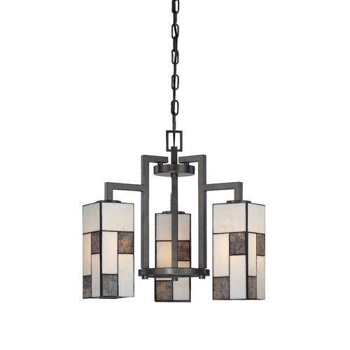 Bradley 3 light shaded chandelier 3 light chandelierart deco