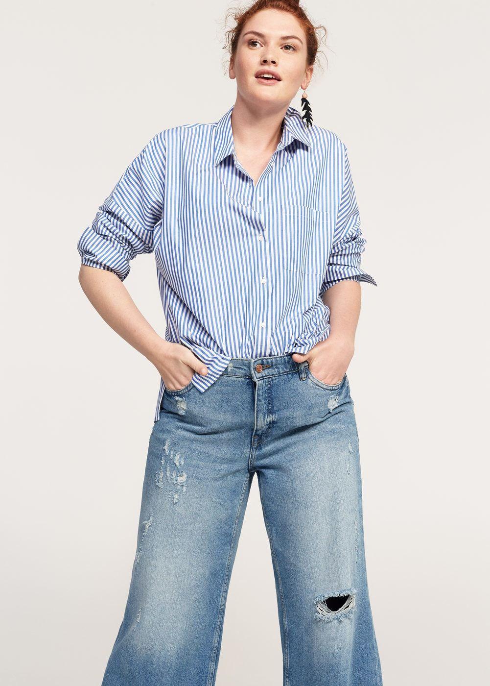 13b5b0d3d1d Crop wide leg jeans - Plus sizes