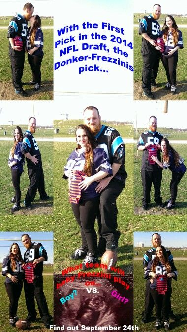 Our baby announcement!!! Our own NFL baby Draft <3