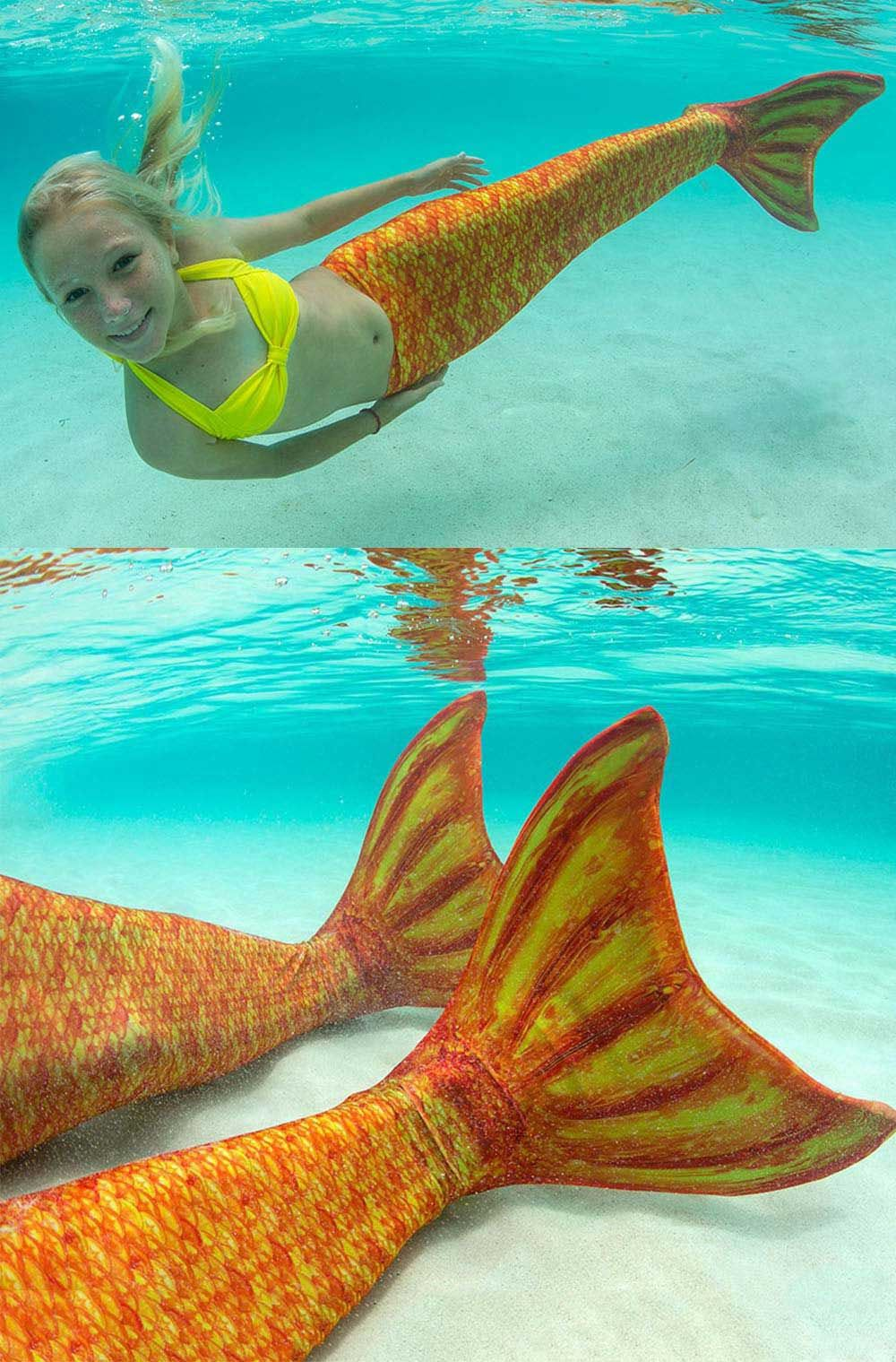 destiny u0027s tropical sunrise mermaid tail for kids u0026 adults by fin