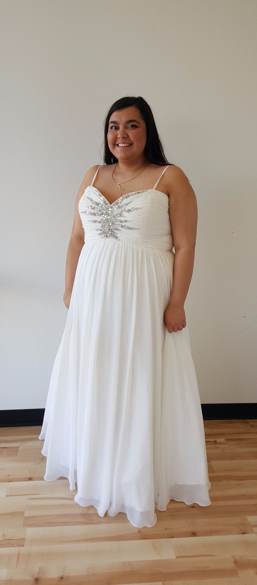 Diamond white plus size dress products pinterest products