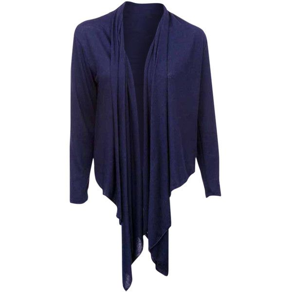 No. 1 Funwear Factory Navy Blue Long Sleeve Flowing Shrug Sweater ...