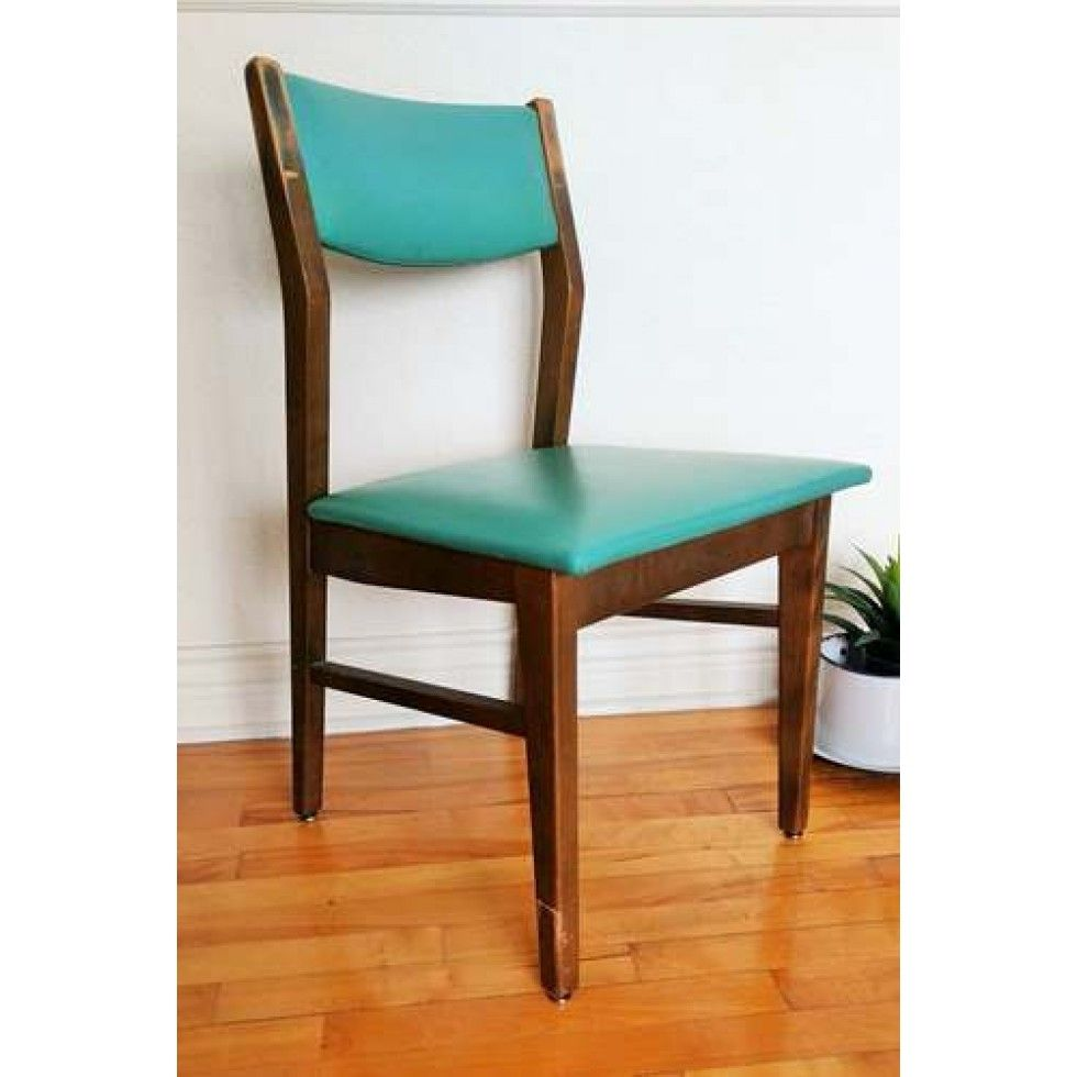 Chaise Henderson Vintage Vinyle Turquoise Chaise Home Decor Dining Chairs