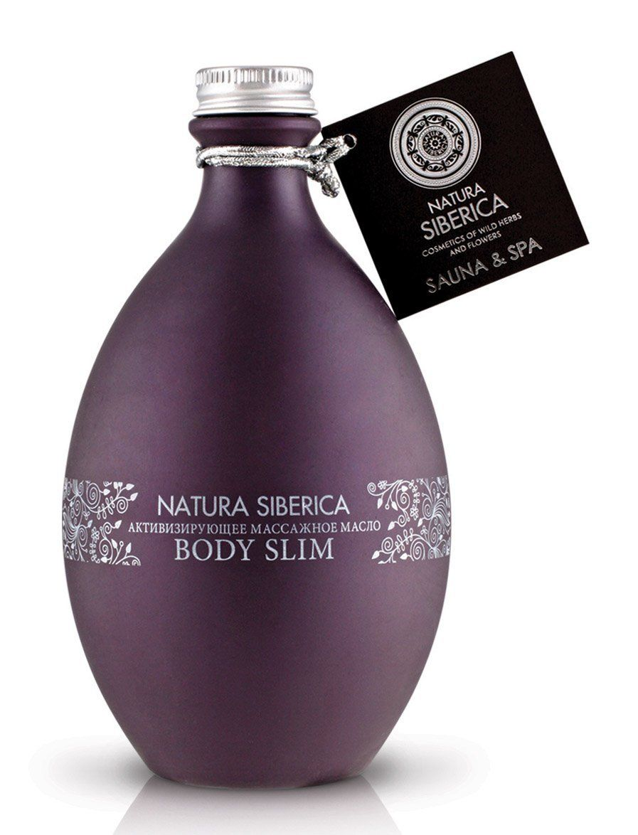 Natural Siberica Active Body Slimming Massage Oil made with natural ingredients from the ecologically pure regions of Siberia.