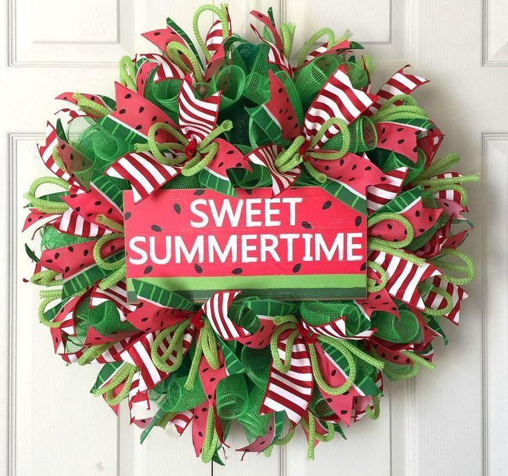 Sweet Summer Time Watermelon Wreath