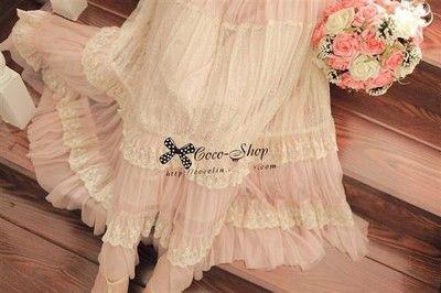 New Fashion Women Lace Splice Long Maxi Dress Chiffon Vintage Casual club Dress | eBay