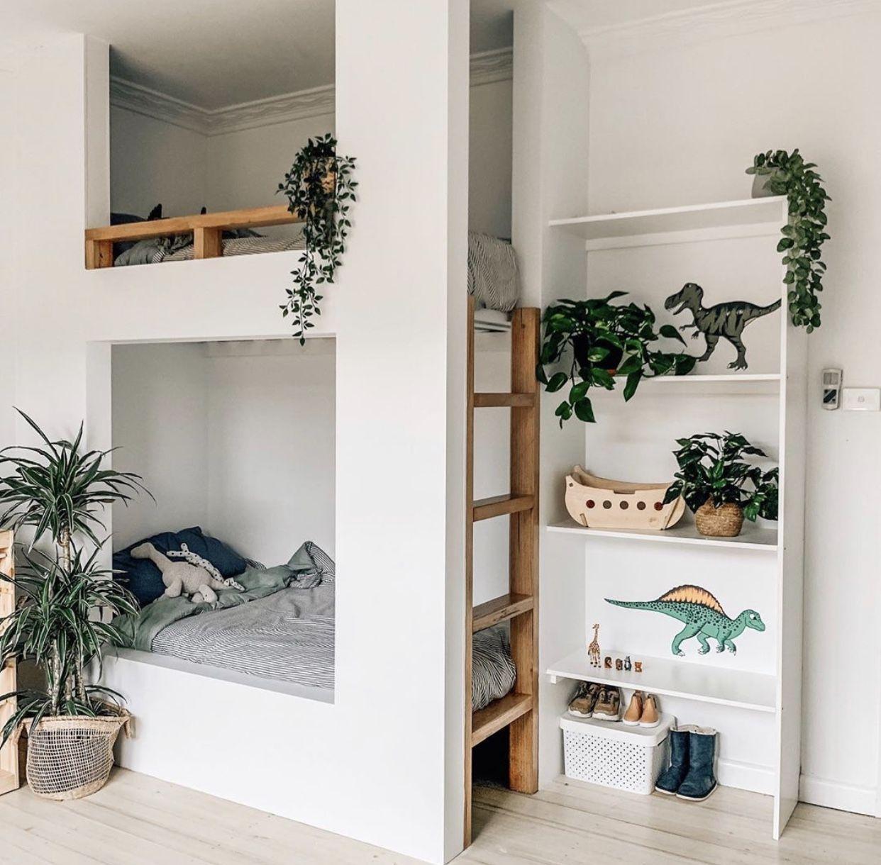 Jungle Massive Wallpaper - White in 2020 | Kids bedroom ...