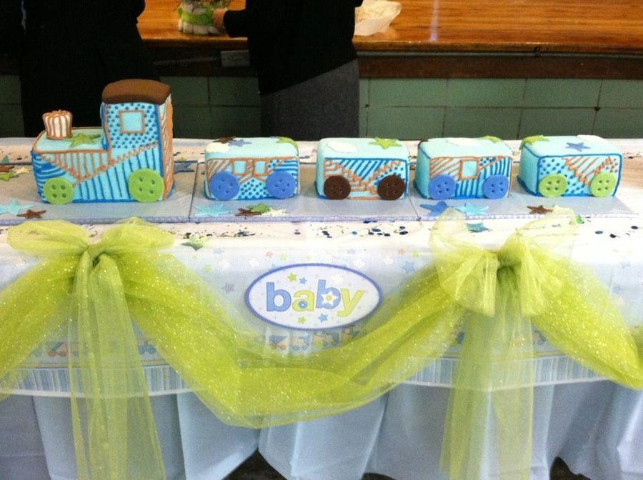 Carter Boy Baby Shower Train Cake — Baby Shower