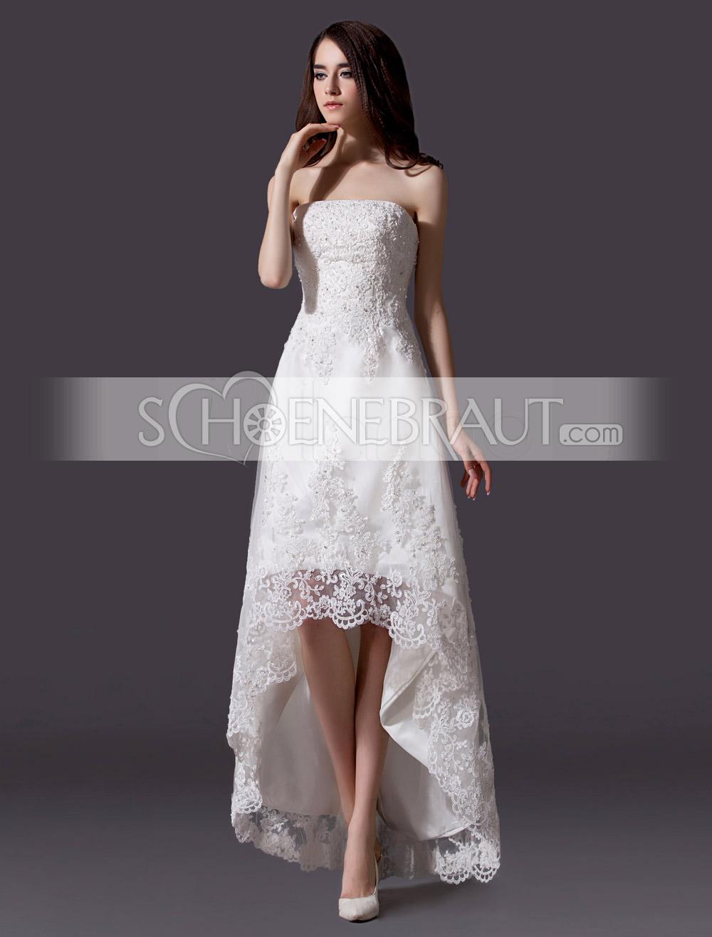 Standesamtkleider Hochzeitskleider standesamt spitze vokuhila
