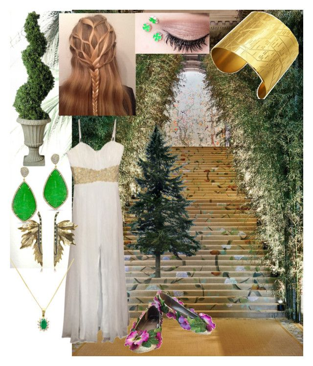 """""""Tree Nymph"""" by charleymalfoy on Polyvore featuring GALA, Improvements, La Femme, Turner & Leveridge, Alcozer & J and Designhype"""