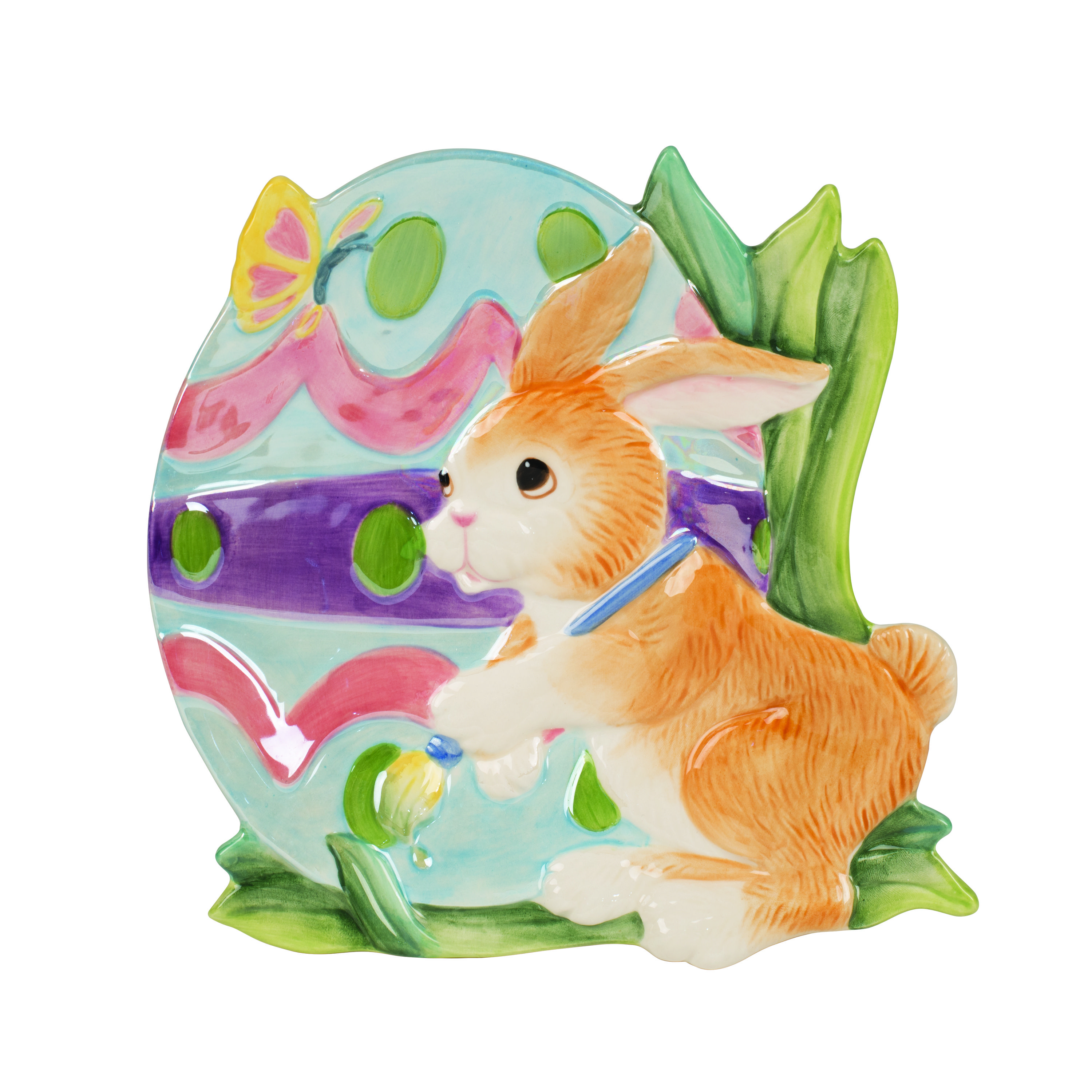 blackberry rabbit accent plate bunny plate fitz and floyd all