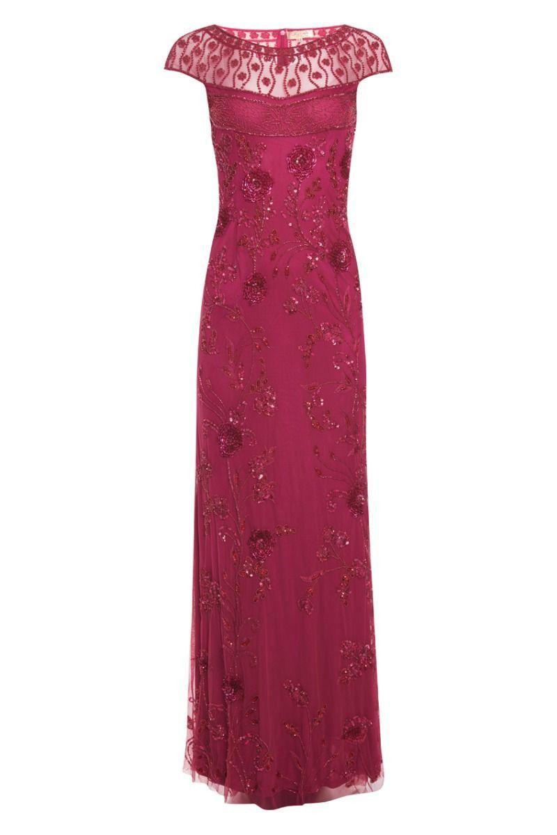 Elizabeth raspberry maxi dress red pinterest raspberry maxi