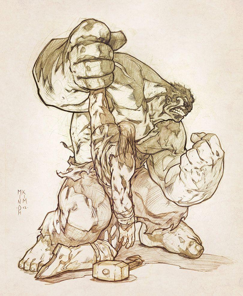 Hulk vs Thor by MinohKim on deviantART  Superhero  Pinterest
