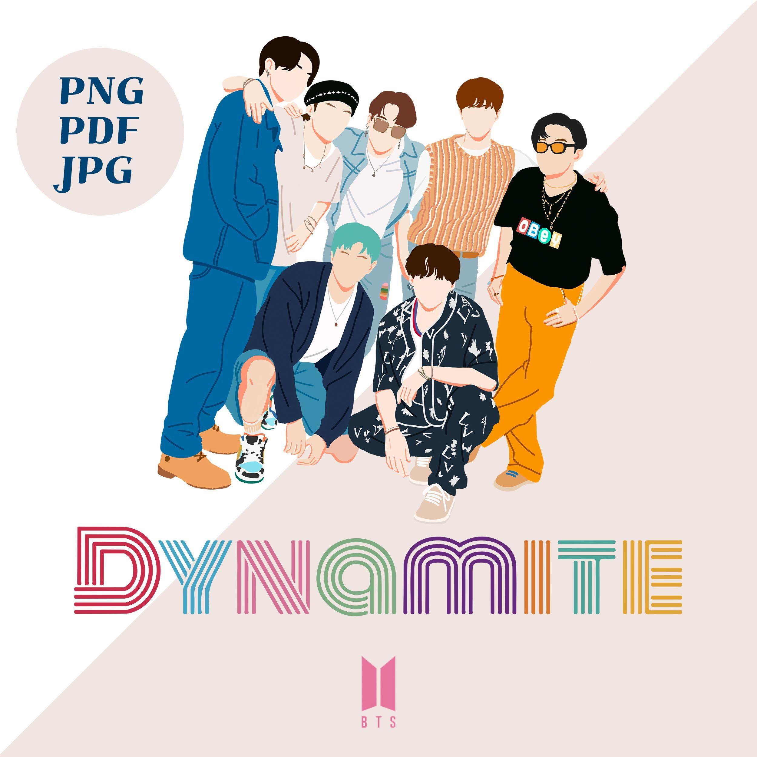 Bts Dynamite Clipart Bts Dynamite Logo Bts Dynamite Sticker Etsy Bts Shirt Dynamite Bts Bts wallpaper 2021 dynamite