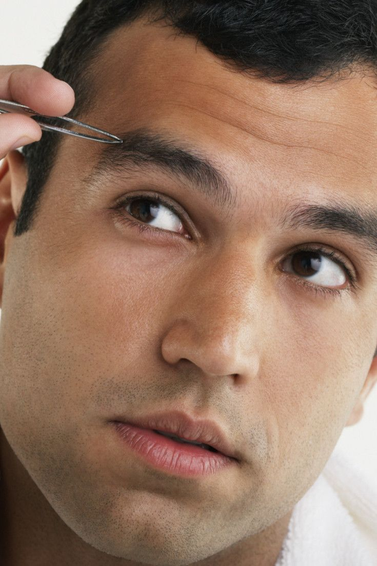 how to trim eyebrows for guys