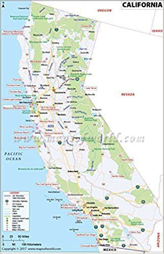 MOI AMZ on | Mad over Maps | California map, California attractions, California Attractions Map on
