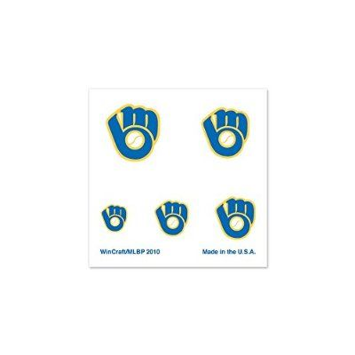 Milwaukee Brewers Retro Glove Official Logo Fingernail Tattoos