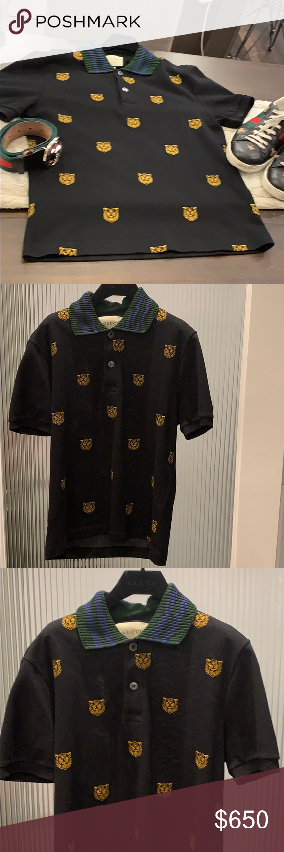 89dc5ef6 Gucci Polo Men's Large with gold Embellishments. Authentic Limited  Edition-Sold Out-Gucci