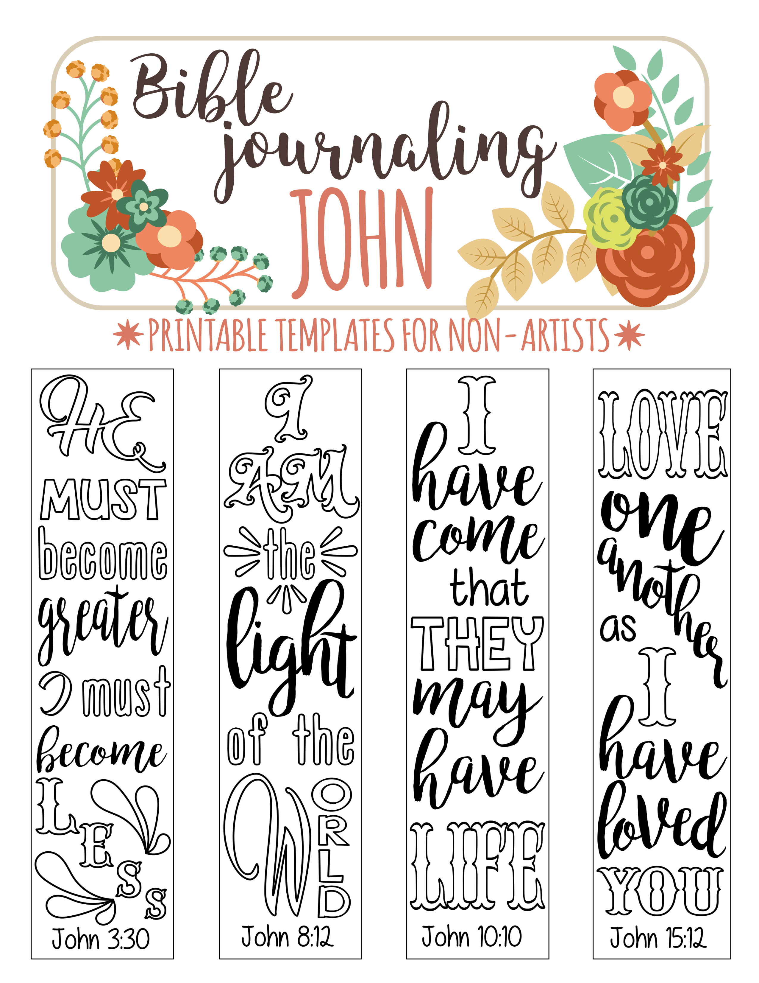 Bible Journaling Art Printables