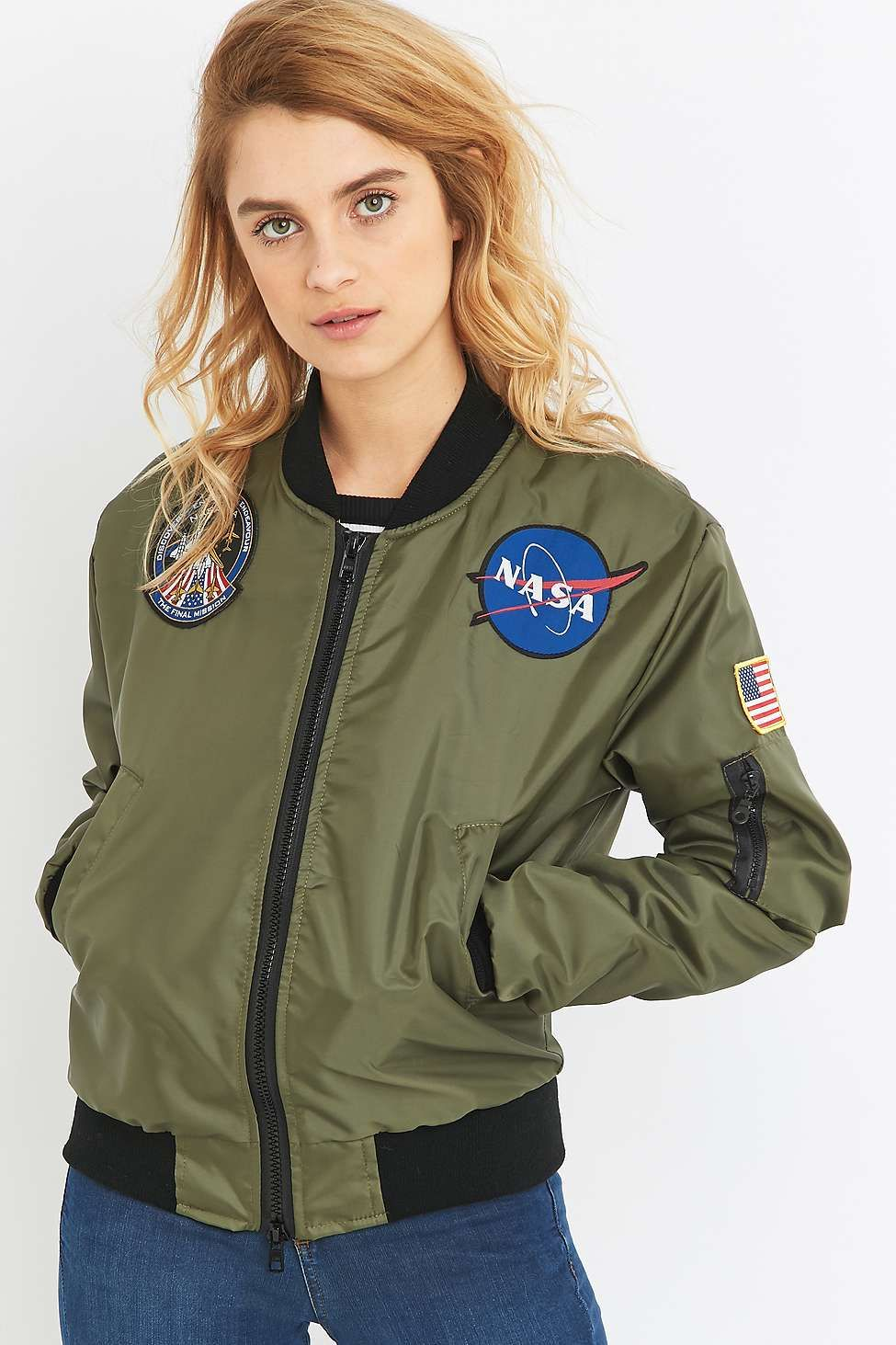 Surplus Urban Nasa Green Patch Renewal Jacket Vintage Bomber Ma1 6qE1qfw
