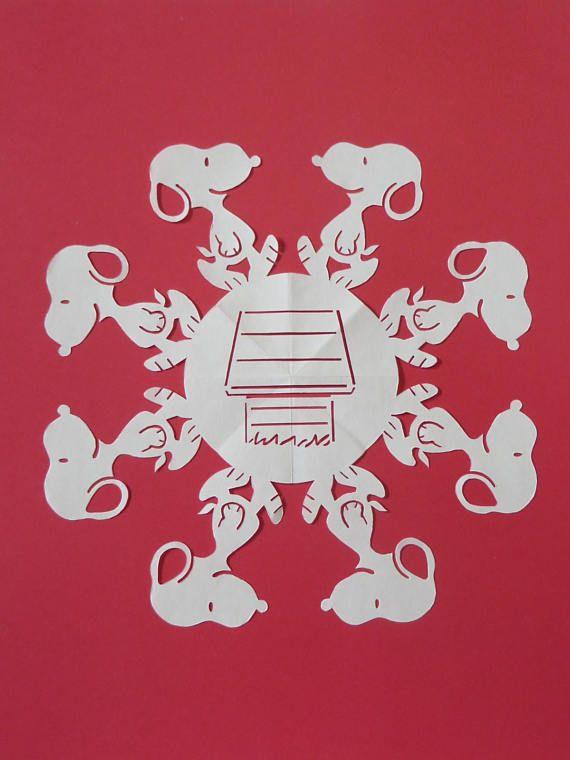 Snoopy Snowflake Paper Crafts Disney Scrapbook