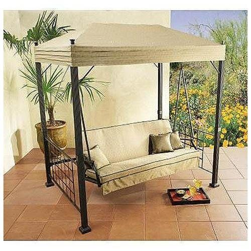 Porch Swings Home Depot   The Home Depot Sydney Swing Replacement Canopy