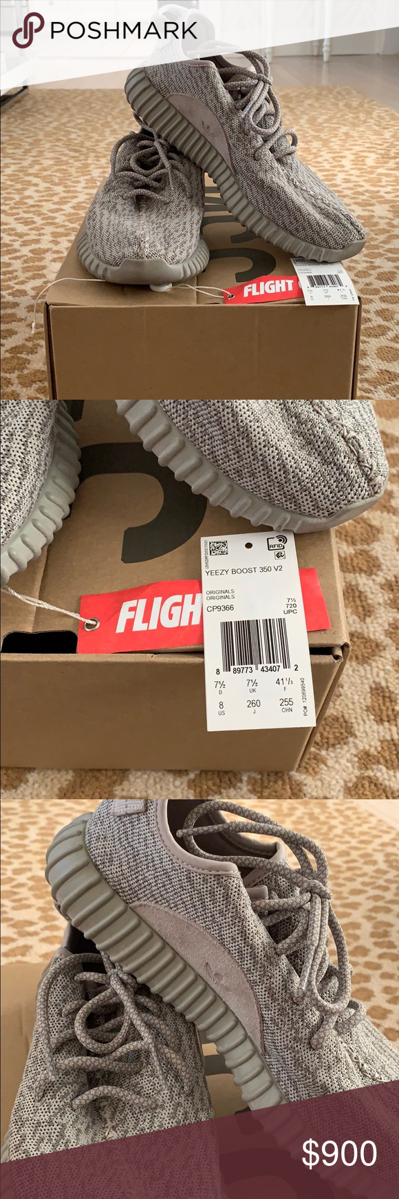new product c0b41 73d7f Yeezy Boost 350 Beige Men's size 8. Some signs of wear ...