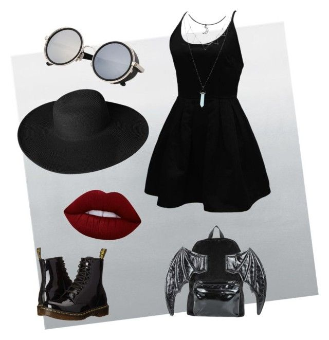 """""""WitchySummer"""" by arsenicwitch on Polyvore featuring WithChic, Dr. Martens, Dorfman Pacific, Iron Fist and Lime Crime"""