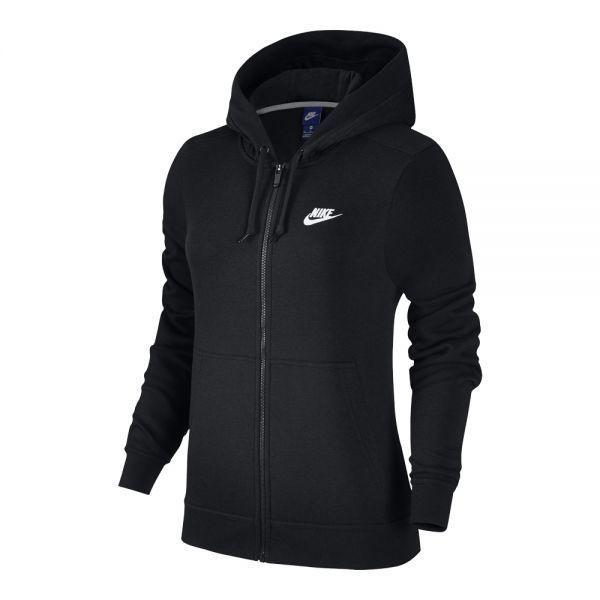 dc761c6a0 New Nike Womens Club Swoosh Solid Black Logo Full Zip Up Hoodie Jacket Size  XS #Nike #Hoodie