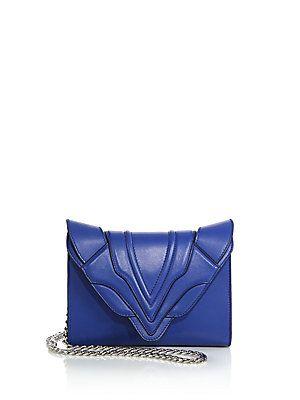 Elena Ghisellini Small Paneled Flap Clutch