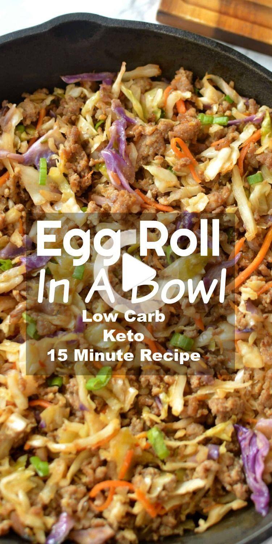 Low Carb Egg Roll In Een Kom - Classic loempia smaak netjes geserveerd in een kom zonder alle koolhydraten! Perfect low carb diner recept dat iedereen zal genieten! #lowcarb #eggroll #eggrollinabowl #inabowl #eggrollrecipe #lowcarbdinner #foodblogger #food #recipes #avondetenrecepten